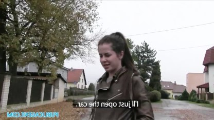 Чешский пикапер встретил на своем пути русскую провинциалку и выебал ее в машине