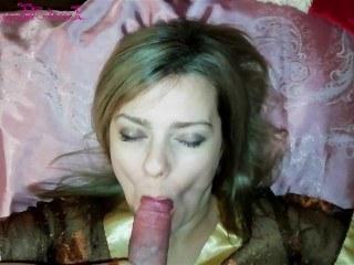 Зрелая дама готова громко стонать и кончать от секса с парнем